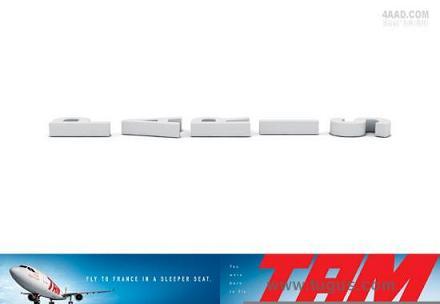 这是巴西tam航空公司的广告